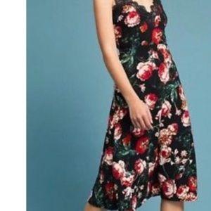 Anthropologie Foxiedox Floral Slip Dress